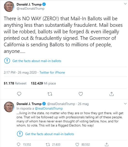 tweet censurati di trump