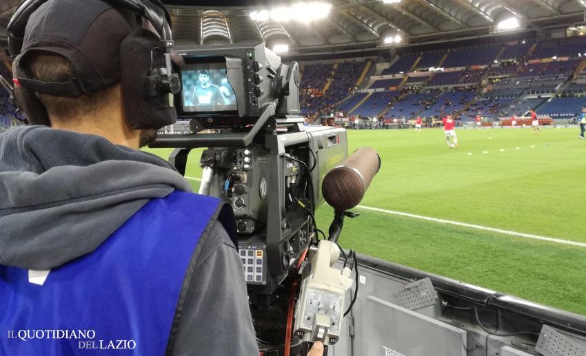 Stadio Olimpico, operatore con telecamera