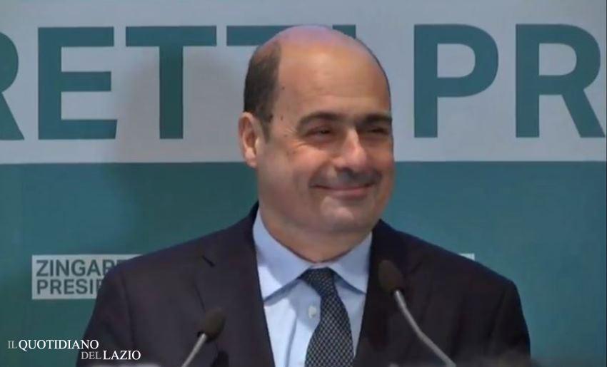 nicola zingaretti candidato sindaco roma pd m5s regione lazio