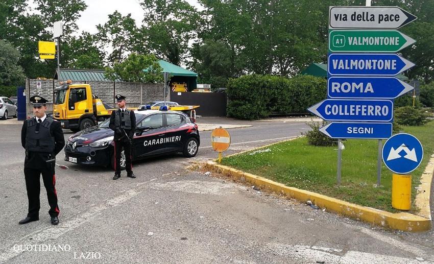 carabinieri cane ucciso valmontone arresti