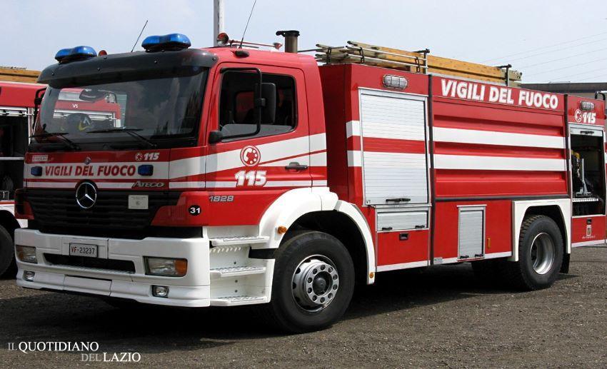 cto incendio vigili del fuoco garbatella roma