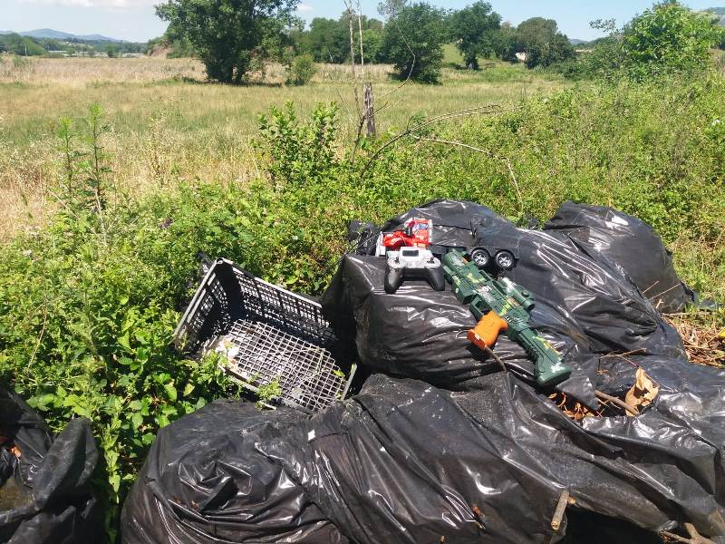 abbandono rifiuti campagne Valmontone