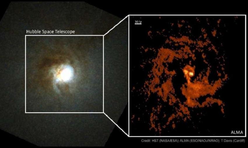 buchi neri: il buco nero supermassiccio all'interno della galassia ngc 404