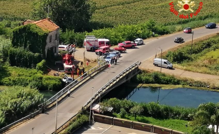 Incidente mortale Sezze, auto nel fiume