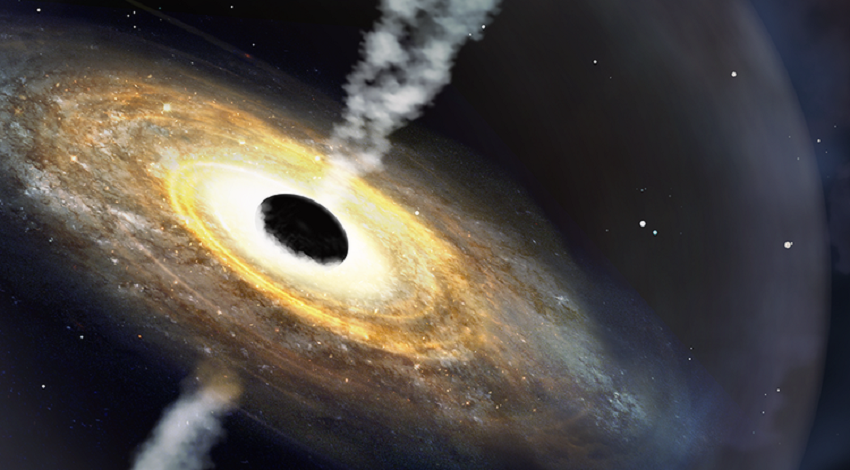 rappresentazione artistica di un quasar