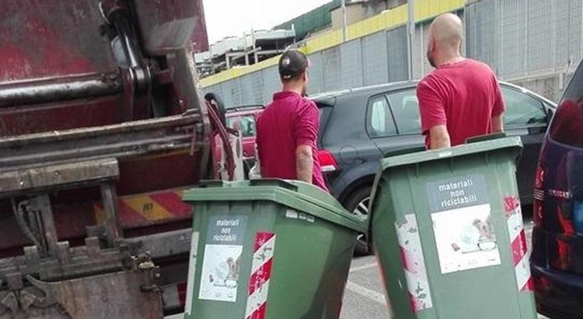 rifiuti colli aniene cassonetti stradali