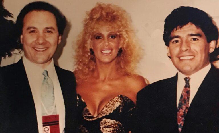Diego Maradona, Mimmo Politanò, Valeria Lynch