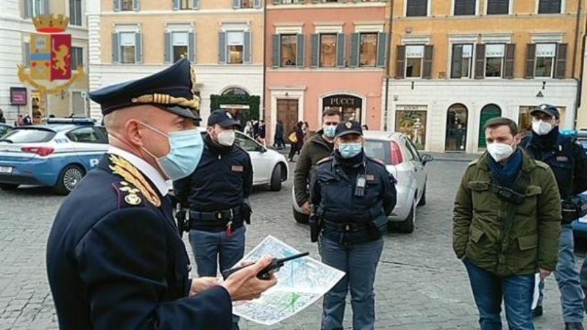 controlli anti covid centro roma