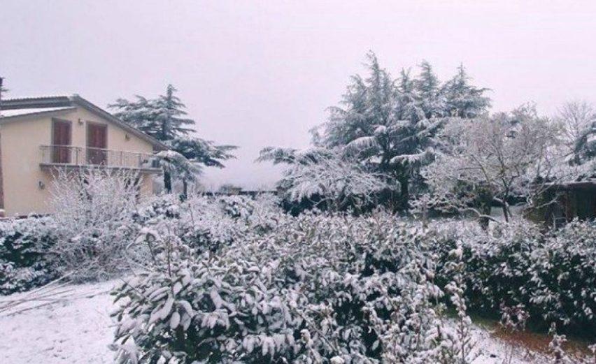 maltempo lazio neve