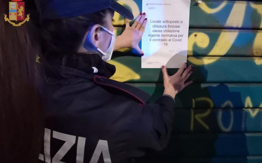 sigilli ristorante covid garbatella roma polizia