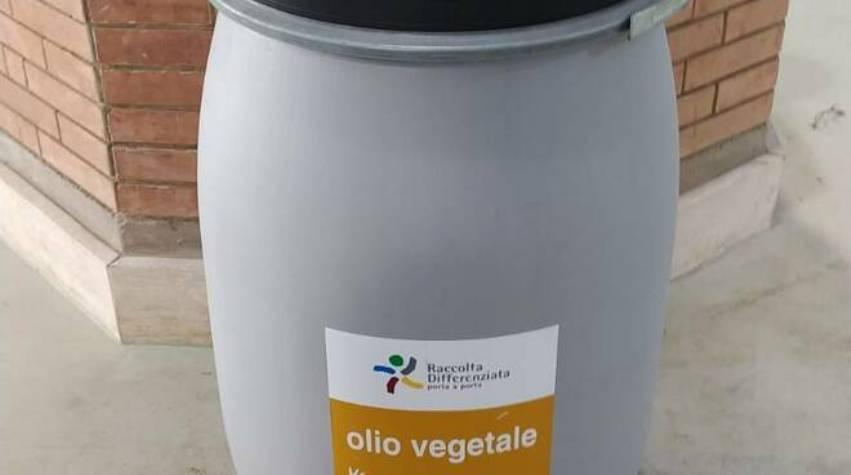 raccolta olio cottura ama roma