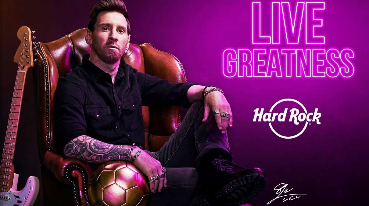 Lionel Messi Hard Rock Cafe