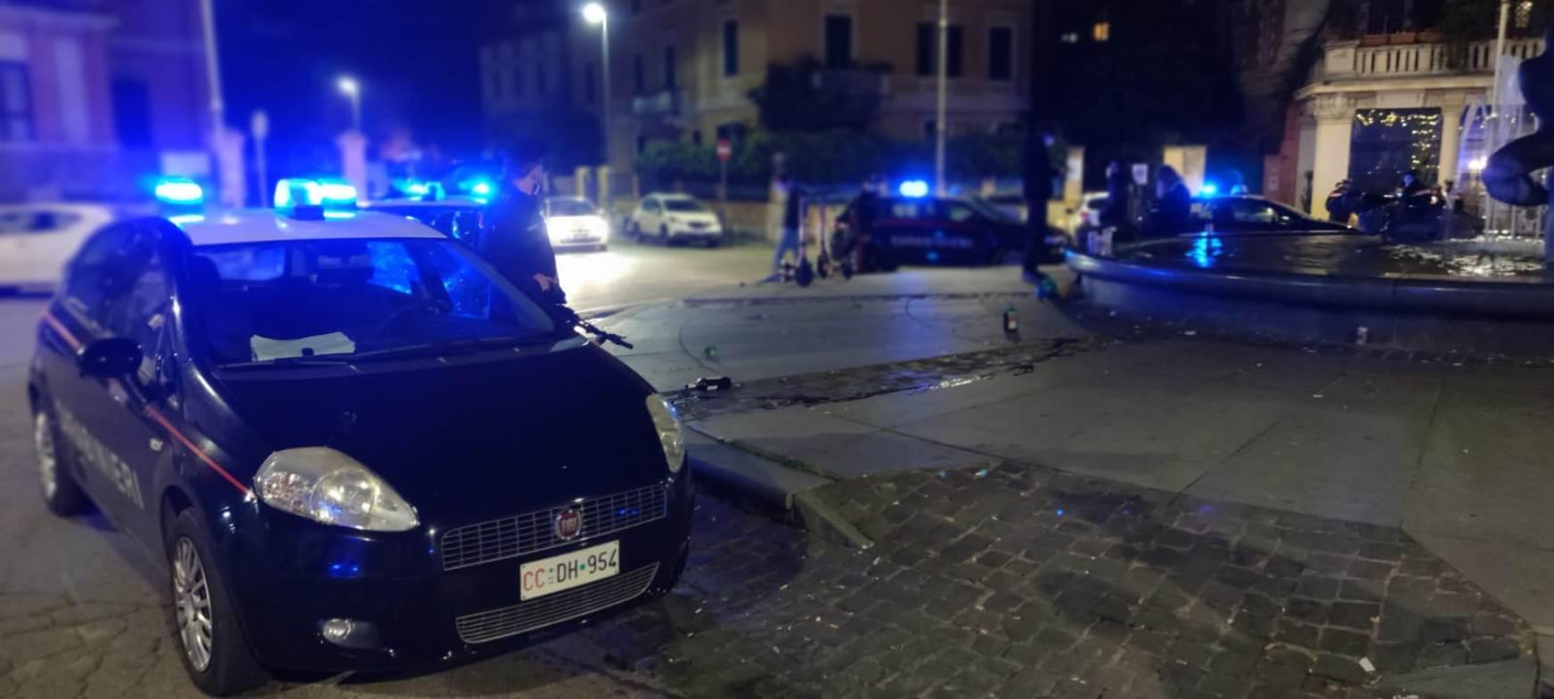 roma piazza bologna lite auto danneggiata carabinieri malamovida