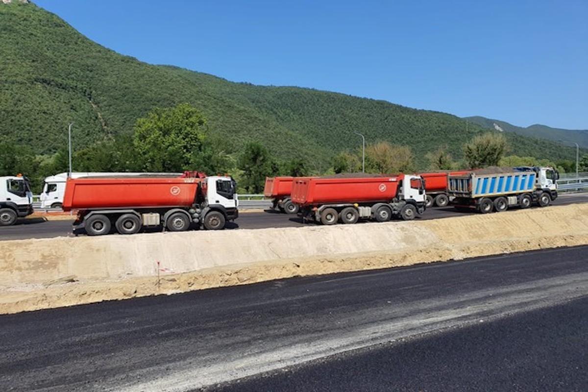 Prove di carico sulla superstrada Rieti-Terni