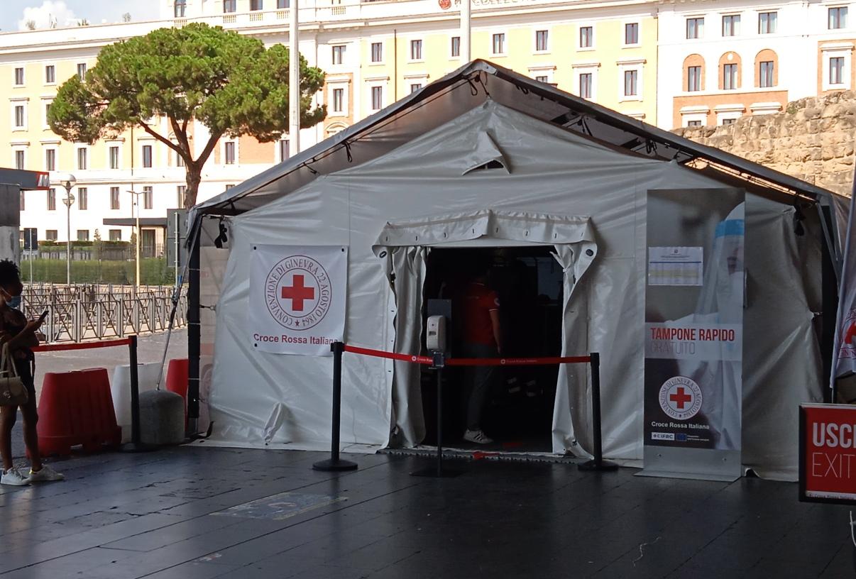 test rapido covid postazione stazione termini roma