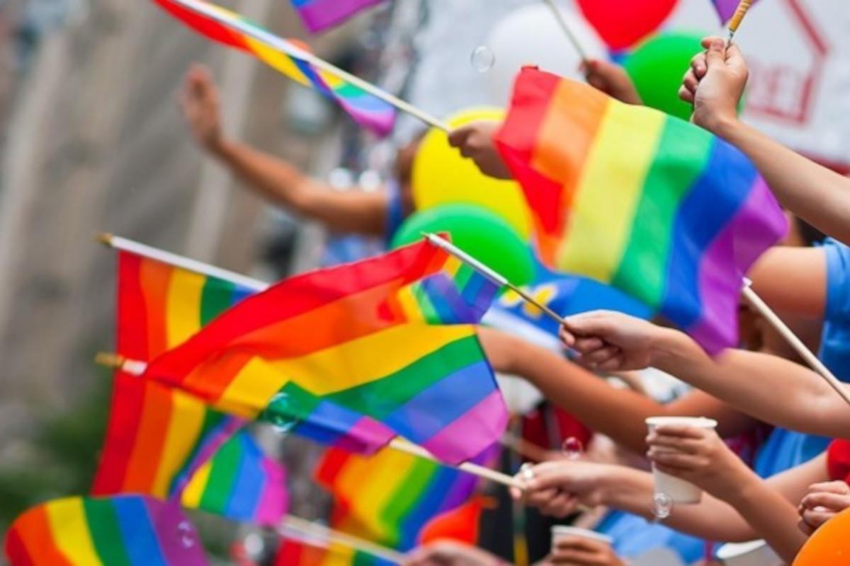 Bandiere arcobaleno Lazio Pride