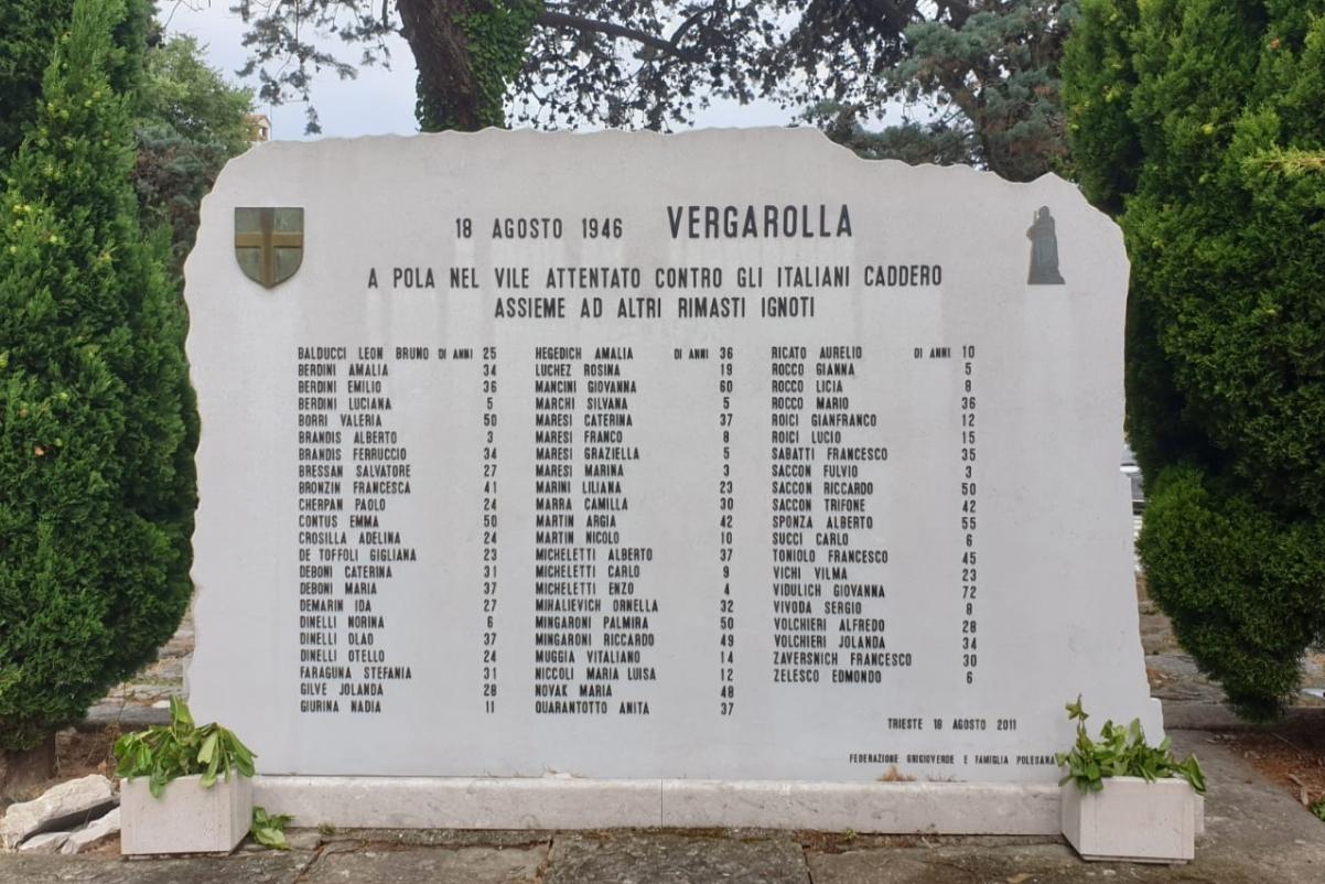 Lapide strage di Vergarolla