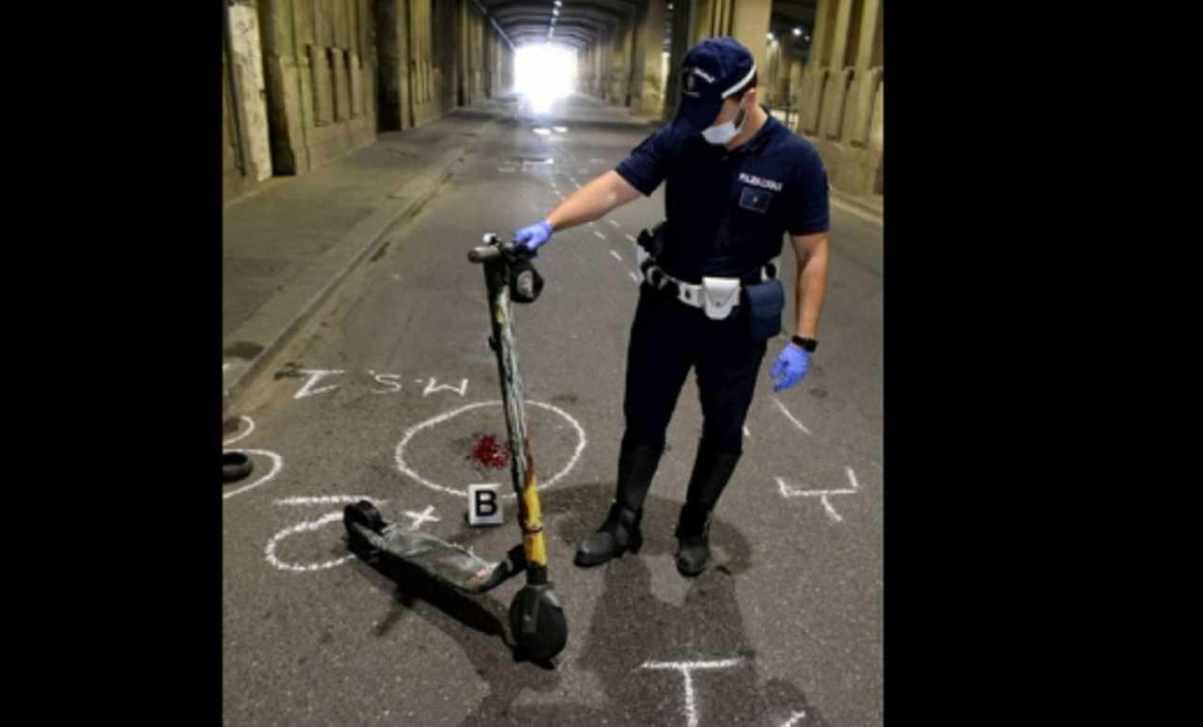 monopattino elettrico fermato dalla polizia locale