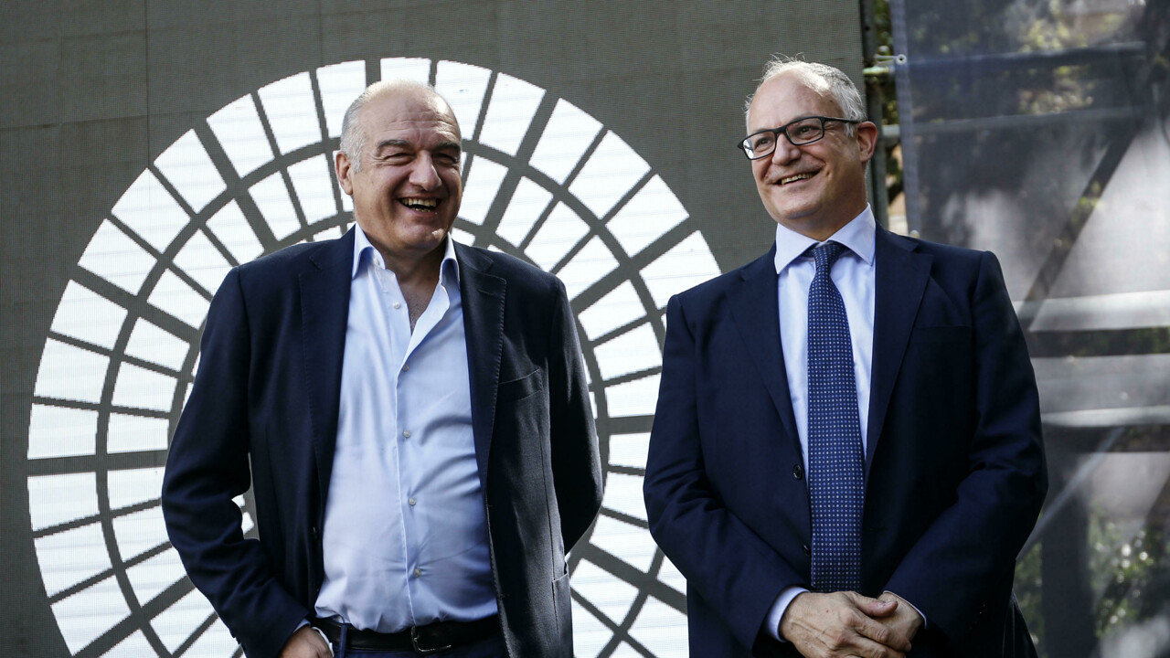 Enrico Michetti e Roberto Gualtieri