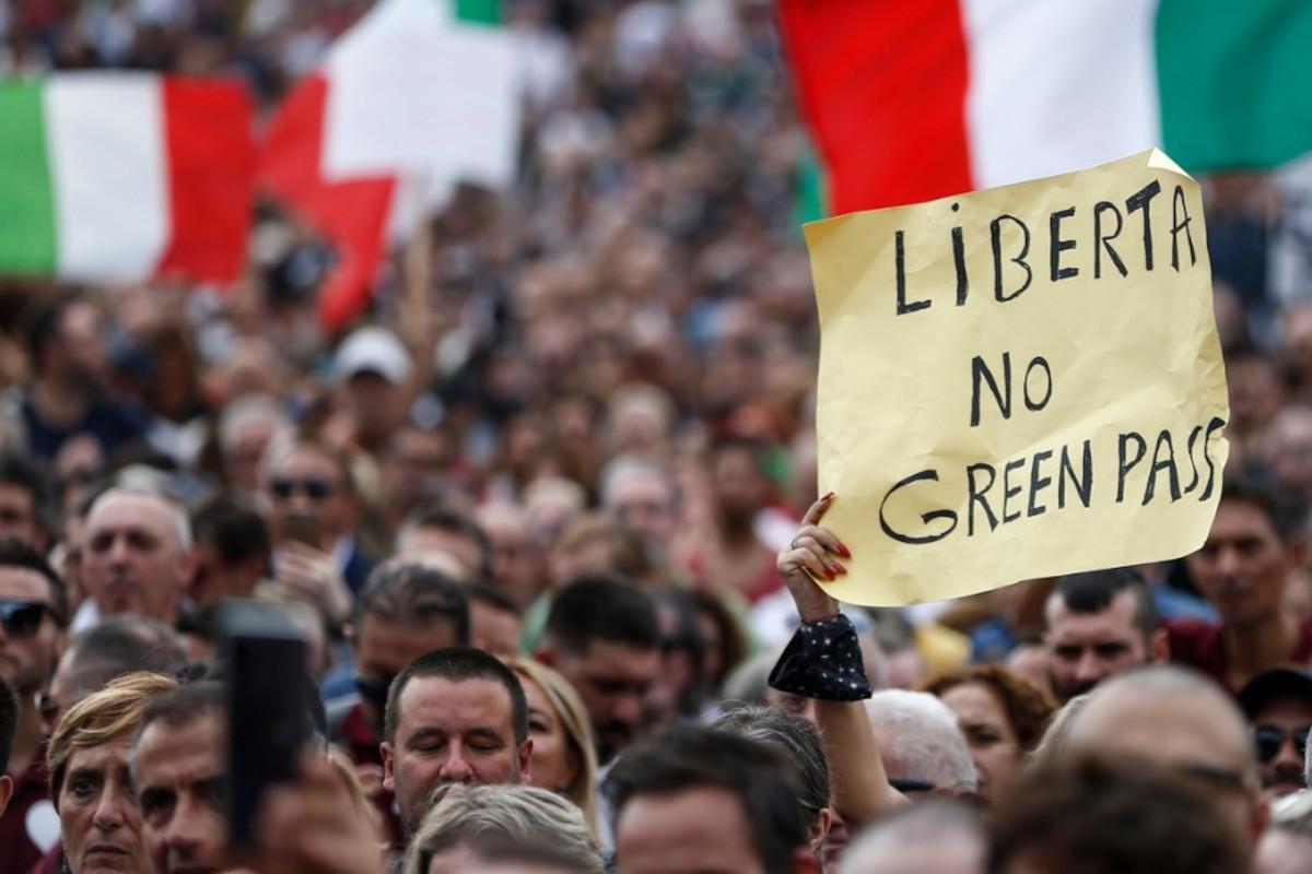 No Green Pass a Roma
